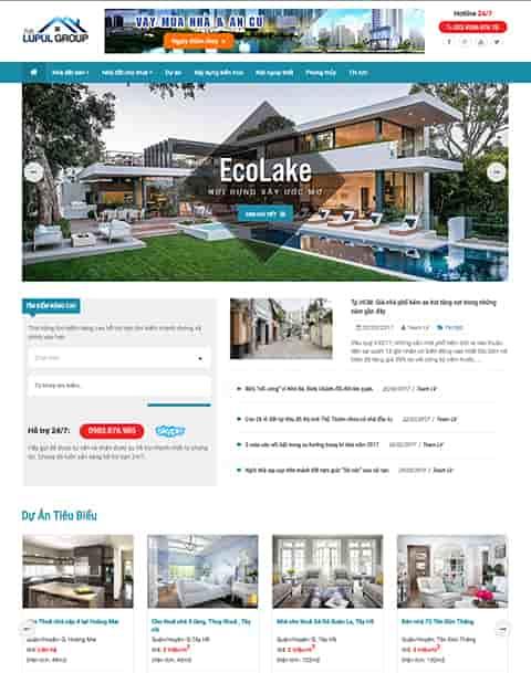 Theme blogger bất động sản nhà đất