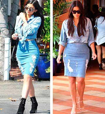 Kyllie Jenner e Kim Kardashian par de vasos