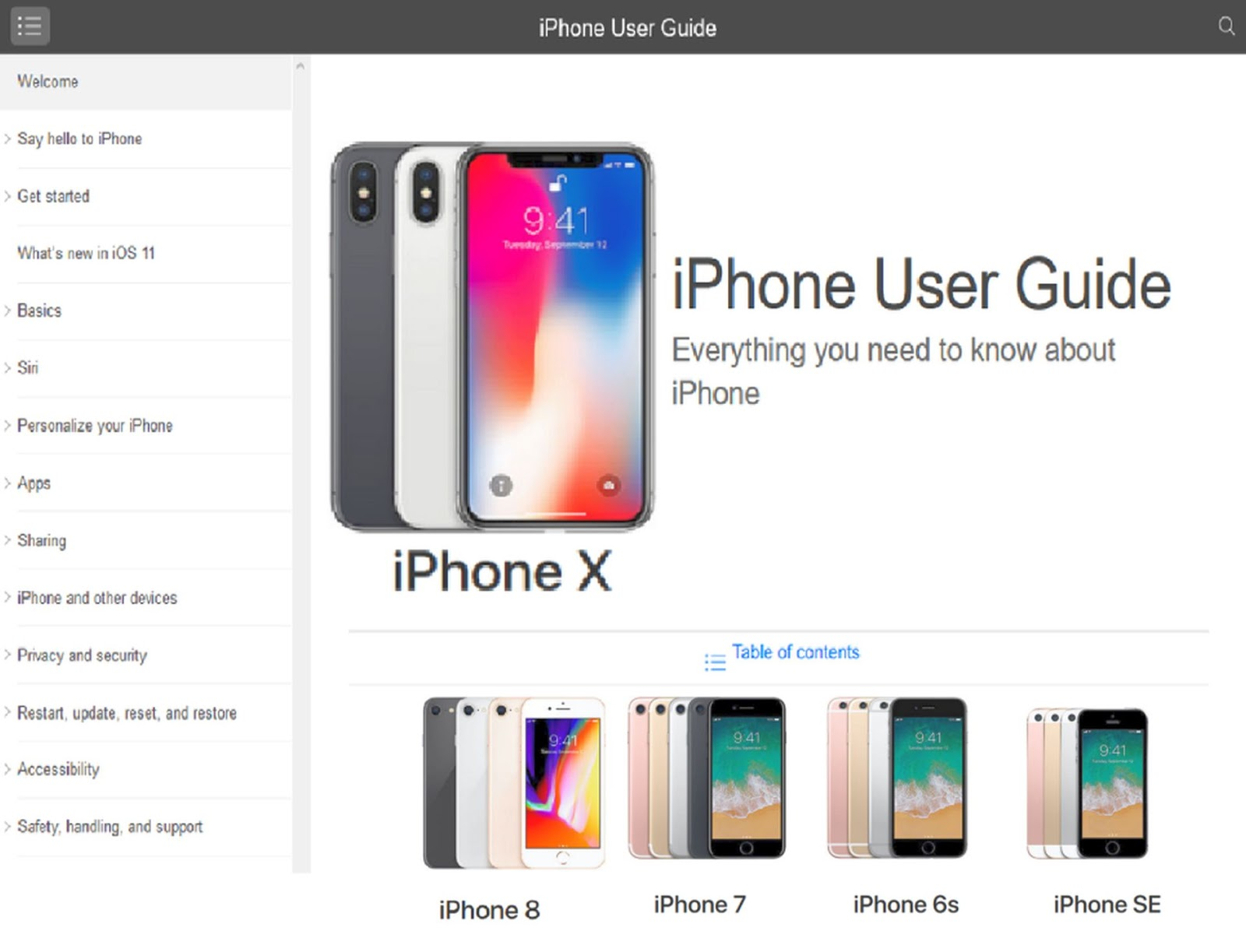 iPhone 8 user guide, iPhone 8 plus user manual and new iPhone X user guide