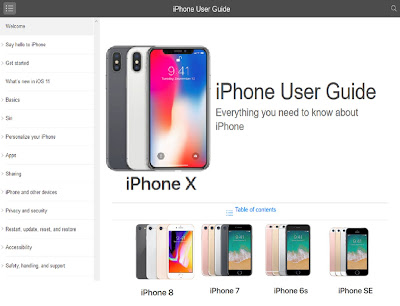 iPhone 8 user guide, iPhone 8 plus user manual and new iPhone X user guide pdf