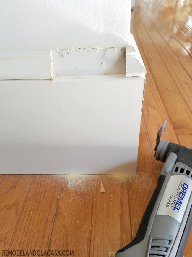Dremel Multi-Max MM 45 - baseboards and door trim how tos