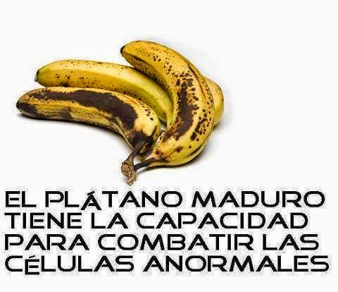Los beneficios de la banana madura anti cancer