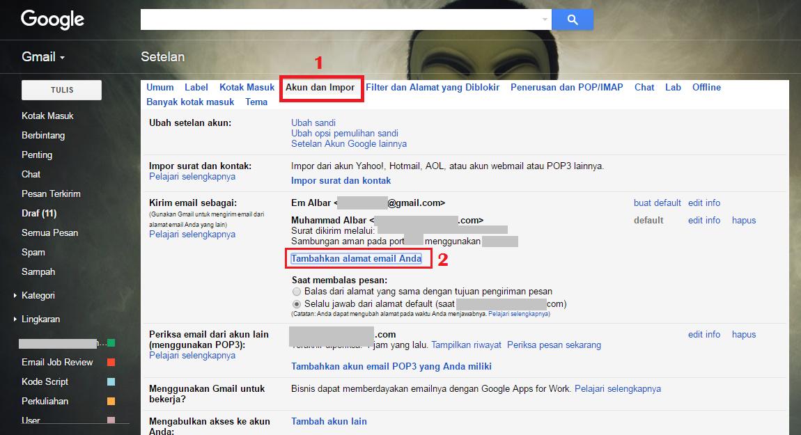Cara Setting POP3 Di Gmail Terbaru 2016