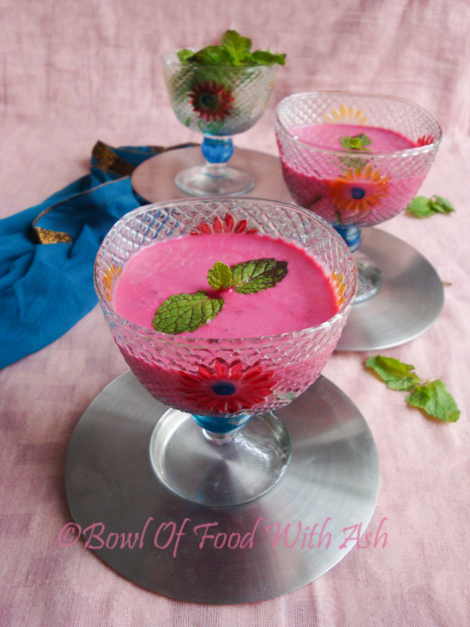 Beetroot Raita Recipe | How To Make Beetroot Raita