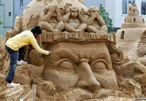 art in the expression of it through the medium of sand