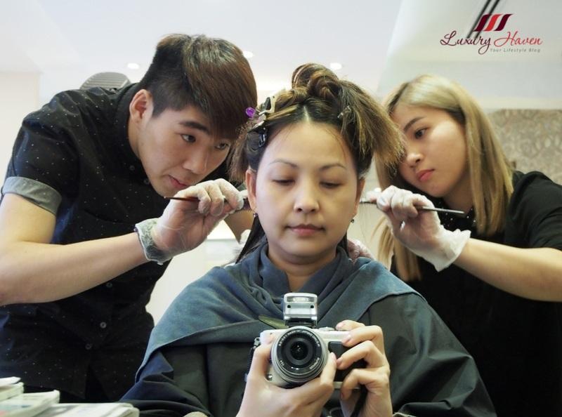 georgina salon festive promo hair colouring