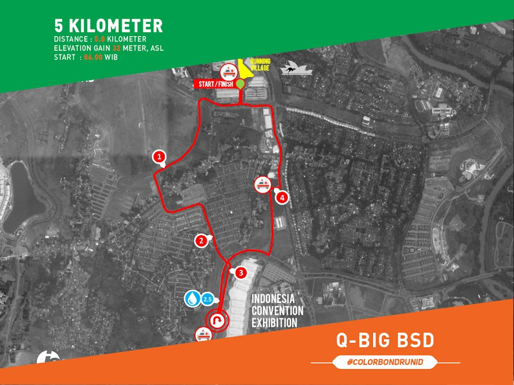 Colorbond Run Route 2018