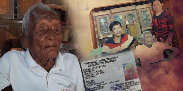 Mbah Gotho Orang Tertua di Dunia asal Sragen, Wafat di Usia 146 Tahun