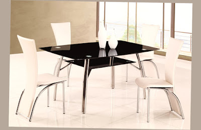 Affordable Modern Furniture New York for Stunning Dining Furniture with Black Glass Table and White Chair Furniture Design Inspiration Best Pict