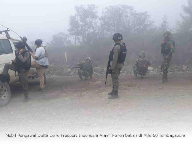 Mobil Pengawal Delta Zone Freeport Indonesia Alami Penembakan di Mile 60 Tembagapura