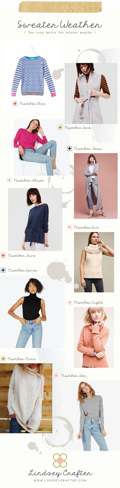 A selection of cozy sweaters to keep you warm this winter