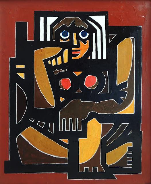 Antonio García Patiño óleo sobre lienzo figurativo oscurida