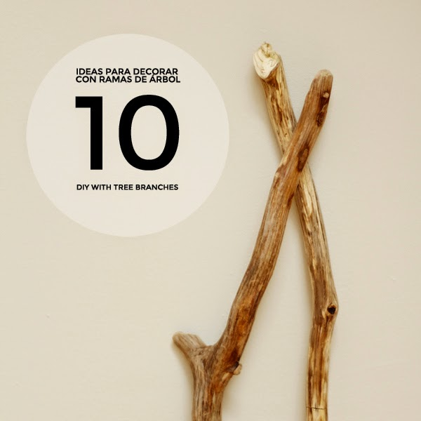 1 rama, 10 usos (o una de ¡creatividad al poder!) · 1 branch, 10 purposes (lots of creativity involved)