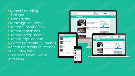 Palleton Template: Fast Responsive Blogger Template