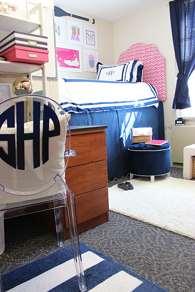 Navy And White Chair Ikea Hanging Uk Dorm Room | Sophomore Year - Prep Avenue