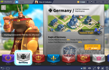Rise of Civilizations Germany