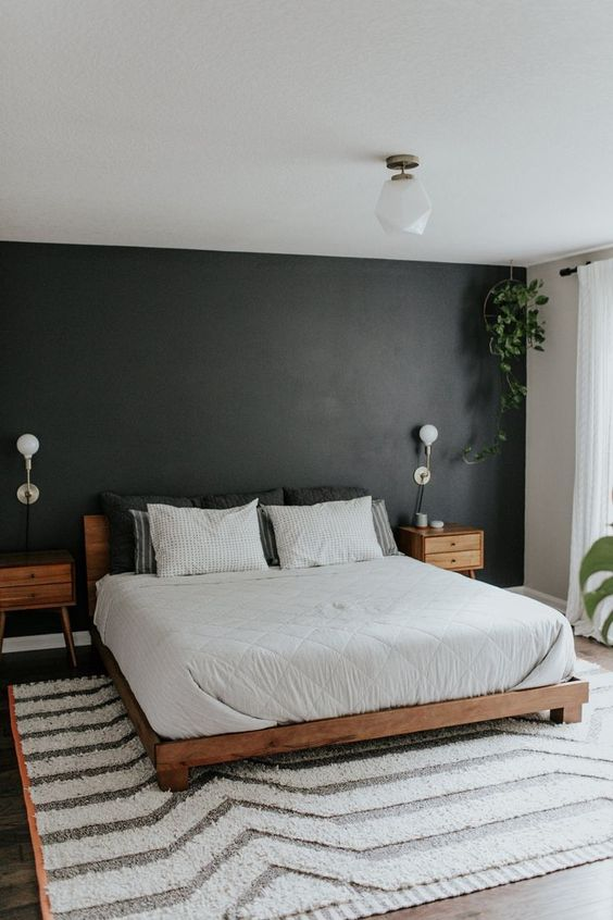 dark bedroom interior design idea