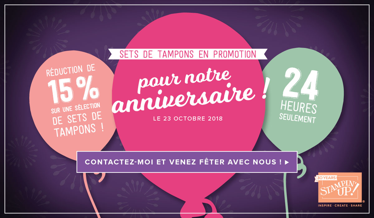 Promotion 30 ans Stampin'Up!