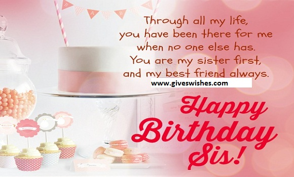 Happy Birthday Message For Sister - giveswishes.com