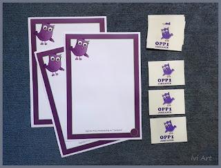 Dyplomy i naklejki z sówką – Stickers and dyploms with little owl