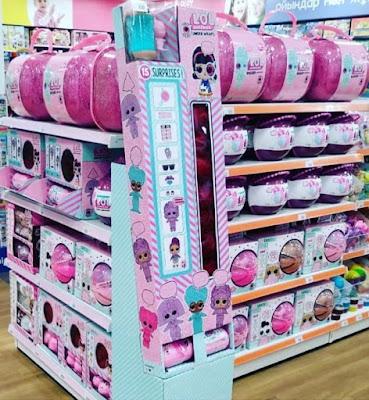 Насколько большой розовый чемодан Лол 60 сюрпризов