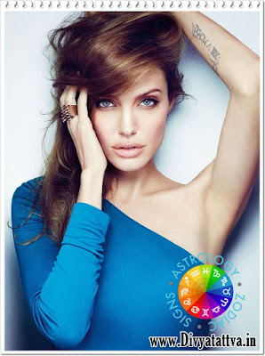 Angelina jolie horosope birth charts, zodiac sign