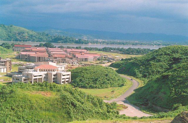 IIT Guwahati campus as seen from a distance