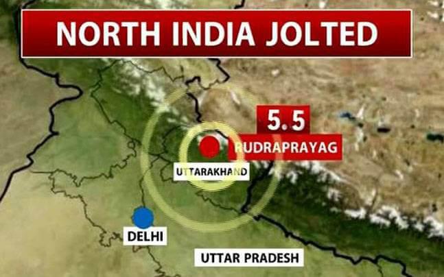 5.5-magnitude earthquake hits Rudraprayag, Uttarakhand