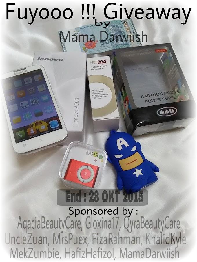 Fuyooo !!! Giveaway by Mama Darwiish