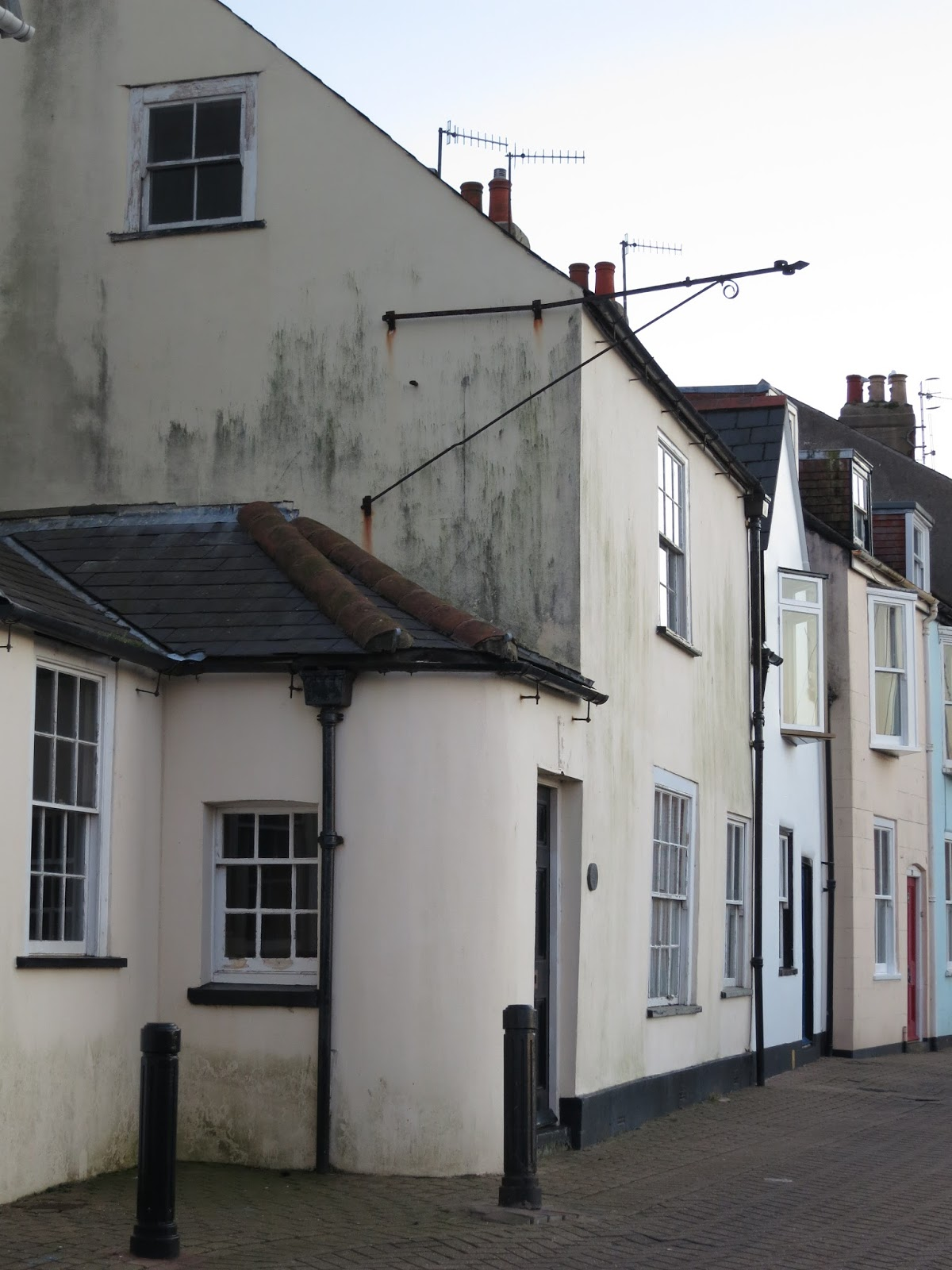 Row of old houses.