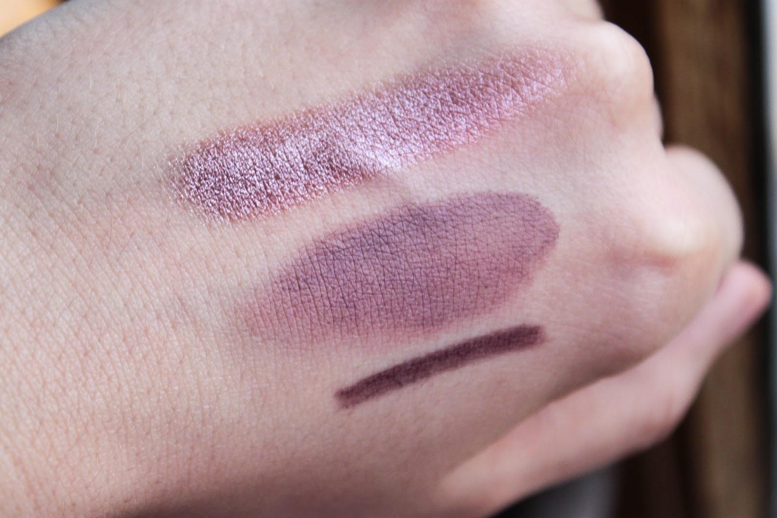 stormy pink smoky mauve purple dash swatches MAC nutcracker sweet plum eye bag christmas 2016 noel paint pot eyeshadow technakhol mascara purple