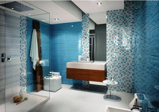 kamar mandi sederhana warna hijau