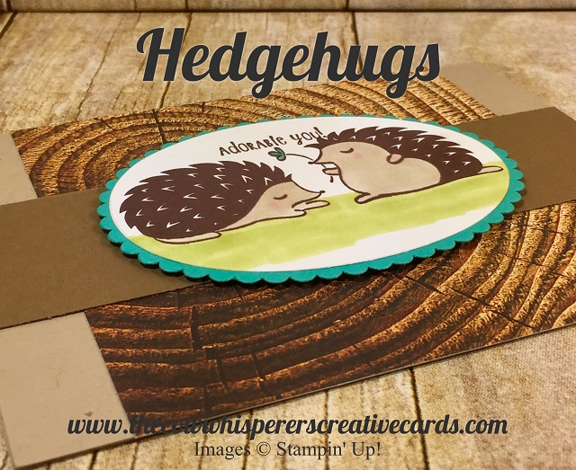 Card, Hedgehugs, Wood Textures Designer Series Paper, Hedgehogs