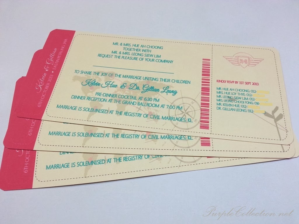 boarding pass, wedding card, modern, colourful, modern, unique, marriage, red, chinese, malay, kad kahwin, malaysia, kuala lumpur, eastin hotel, petaling jaya, selangor, printing, online order