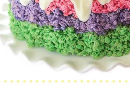 EASTER RICE KRISPIE CAKE