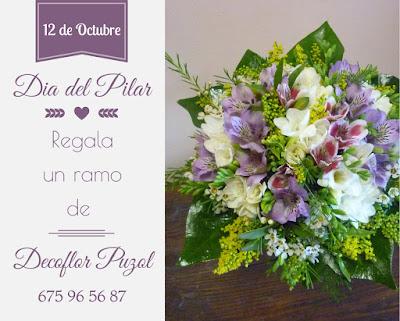 12 de Octubre dia del Pilar regala Decoflor Puzol