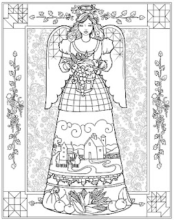 jim shore angel coloring book  ahrvest sample