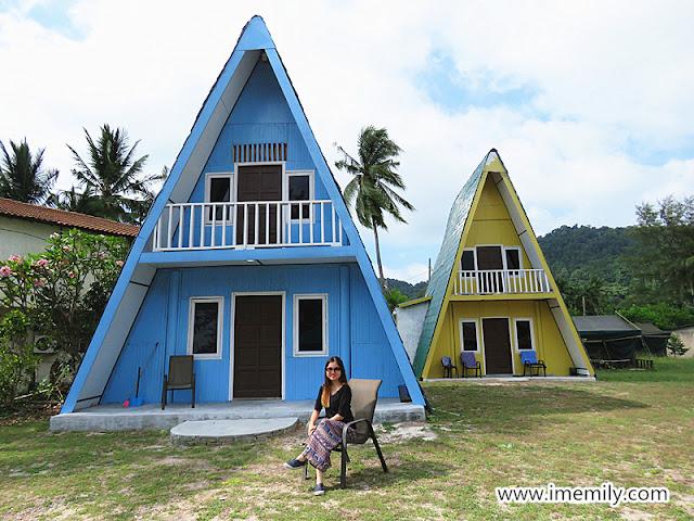 rustic resort at Pulau Besar Johor