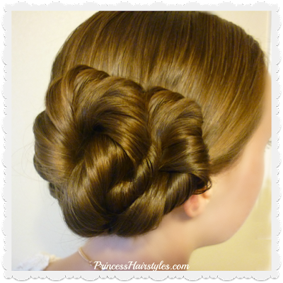 Easy twist updo hairstyle, video tutorial.