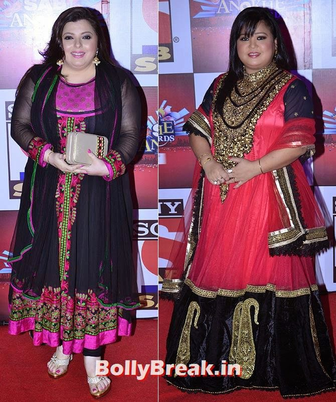 Delnaaz Irani and Bharti Singh, SAB Ke Anokhe Awards Photo Gallery