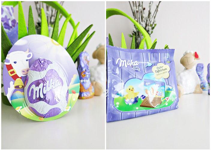 Milka Kuh-Anhänger + Milka Oster-Täfelchen