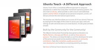 نظام التشغيل أوبنتو تاتش للهواتف الذكية