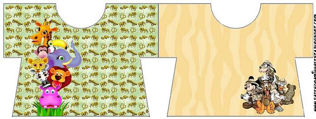 Tarjeta con forma de camisa de La Selva Bebés.