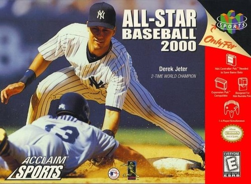 93e90089dd He was on the box of Acclaim's All Star Baseball 2000 game for Nintendo 64.  The system didn't have as many games as the original Playstation, ...
