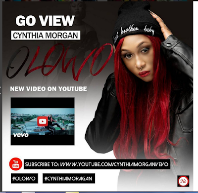Cynthia Morgan In All-Black Outfit With Red Hair For Her 25th Birthday Today