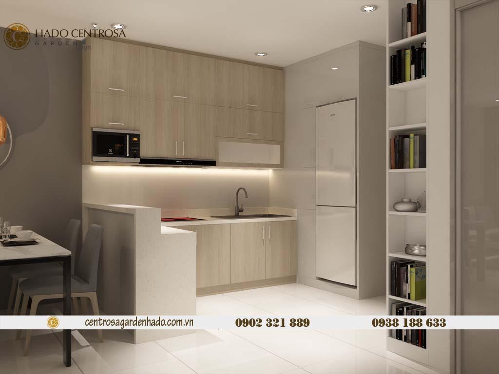 Căn hộ 1 phòng ngủ cho thuê HaDo Centrosa tầng cao | ảnh 3D 4