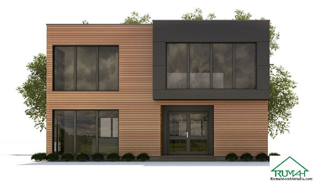 Denah Model Desain Gambar Rumah Minimalis Idaman Modern Tipe 395