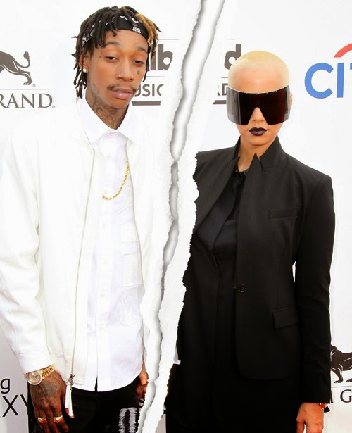 Love shock! Amber Rose leaves Wiz Khalifa