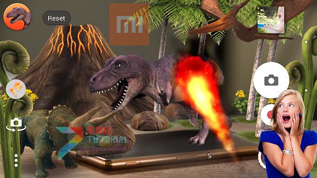 Ada Augmented Reality Effect Kamera di Smartphone Xioami? yang Pakai Dinosaurus Itu? Bigini Cara Installnya