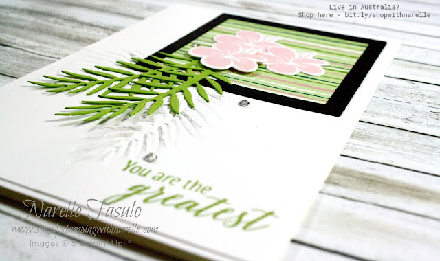 Dreaming of a tropical holiday but can't make it happen. Then do the next best thing and make some projects using our beautiful Tropical Escape Product Suite. See the whole range of products here - https://www3.stampinup.com/ECWeb/products/31009/tropical-escape?dbwsdemoid=4008228